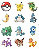 Pokemon Go Party Pack - 24 Cup Cake Toppers - Edible Stand Up Decorations
