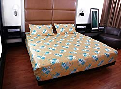 Bombay Dyeing double bedsheet with 2 pillow covers-Garnet-Yellow