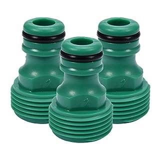 3 Anschlussstücke mit Außengewinde 3/4 Zoll Wasserhahnanschluss