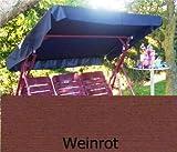 Merino Europa Sonnendach, Schaukeldach, Ersatzdach Hollywoodschaukel, nach Maß passt überall (umnähten Kanten) (weinrot)