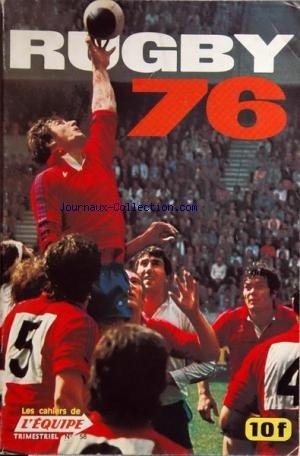 CAHIERS DE L'EQUIPE (LES) [No 58] du 01/01/1976 - RUGBY