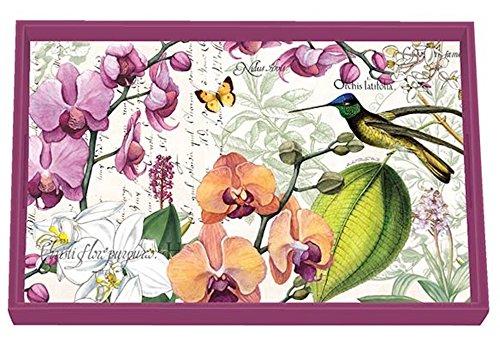 Eitelkeit Tablett, Pfingstrose Orchids in Bloom ()