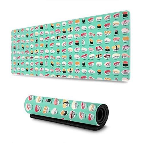 Base Charts (Soft Gaming Mouse Pad Large Sushi Chart Wasabi Non-Slip Rubber Base Soft Computer Keyboard Mice Mat)