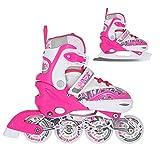 NILS 2in1 Inlineskates/Schlittschuhe Graffiti pink Gr. 31-34, 35-38, 39-42 verstellbar ABEC7