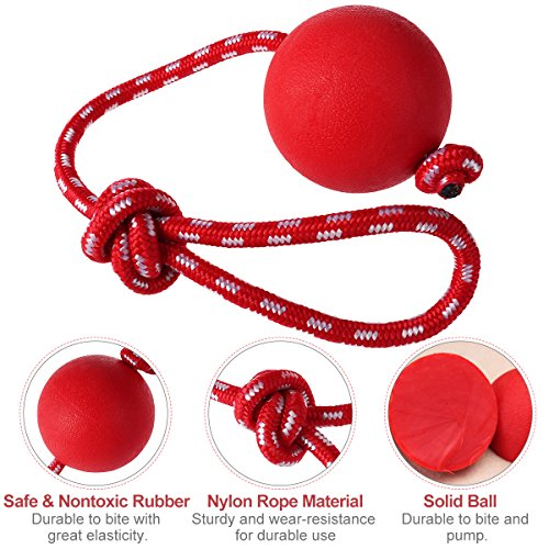 UEETEK-Pet-Rubber-Chew-Toy-Ball-with-Rope-Dog-Interactive-Ball-Thrower-for-Pets-Playing-Training-Exercising-Ball-Diameter-75cm