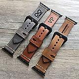 Bracelet Apple Watch, bracelet Apple Watch 38 40 42 44 mm bracelet en cuir véritable femmes hommes gravure montre bande cadeau du père cadeau de mariage copain