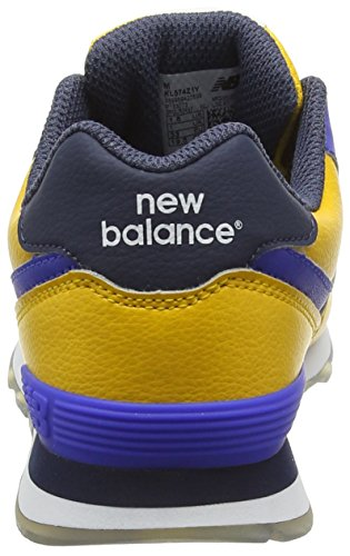 New Balance 574, Sneakers Hautes Mixte Enfant Multicolore (Yellow/Blue 723)