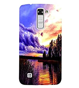 Cloud , Black, Lake, Beautiful Pattern, Printed Designer Back Case Cover for LG K3 :: LG K3 Dual K100 LS450