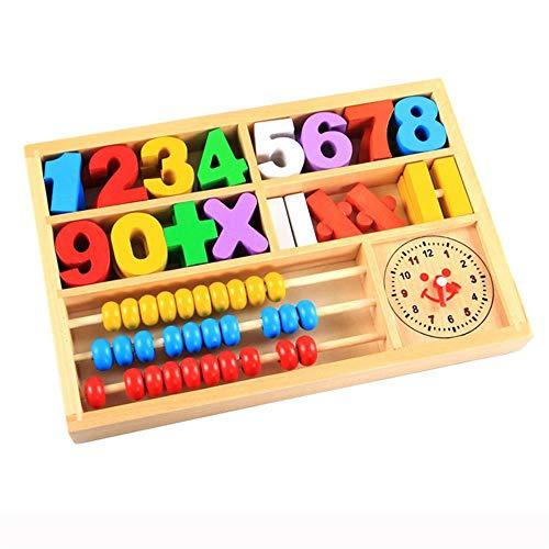 Huayer Spaß, lehrreich und sicher Kinder Puzzle frühe Bildung Spielzeug Holz Abakus Zähler (bunt) (Bildungs-zähler)