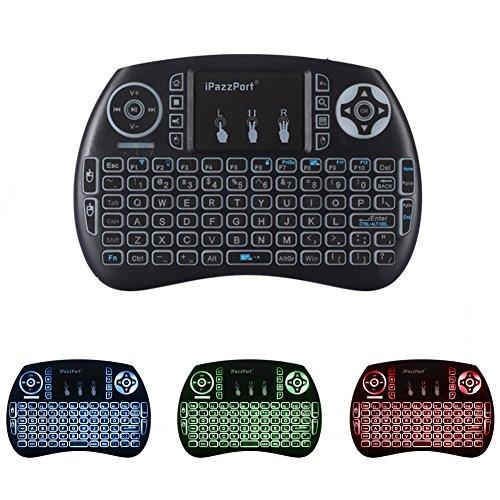 iPazzPort-24GHz-Mini-Tastatur-Hintergrundbeleuchtung-Ergonomische-tastatur-mit-touchpad-und-Ersatz-Wiederaufladbare-Li-ion-Batterie-fr-tastatur-Smart-TV-Raspberry-Pi-3-PC-fernbedienung