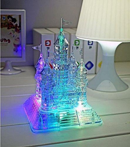 ASAMBLEA 3D STILLCOOL CRYSTAL CASTLE PUZZLE - JIGSAW 3D  3D ROMPECABEZAS MUSICAL CON HERMOSA LUZ-UP MUSICAL  105PCS