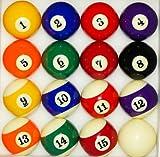 Nanook palle da biliardo americano, colore brillante,dimensioni: 57,2mm