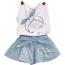 ❤️Ensembles de Bébé Filles ,Amlaiworld Filles Mignon T-shirt Bow Chemise de modèle de fille Tops+ Shorts Ensemble Vêtements Pour Enfant Fille 2-7 Ans