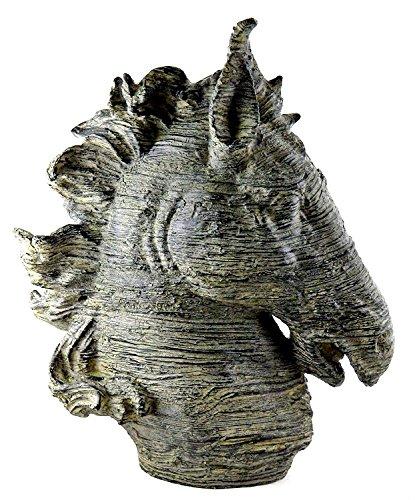 Spirit Pferd Kopf Büste, groß, bronze Farbe Skulptur Museum Qualität 40,6cm Zoll -