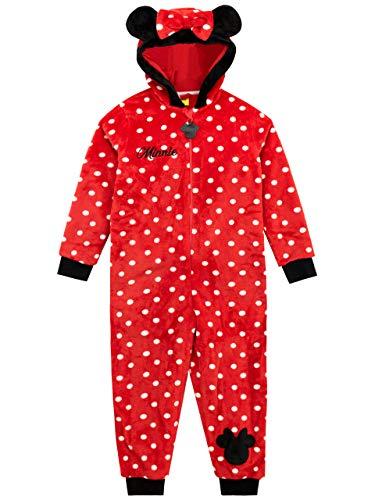 Disney pigiami interi a maniche lunghe per ragazze topolina minnie mouse rosso 4-5 anni