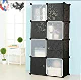 #1: PETRICE Portable Wardrobe for Hanging Clothes, Combination Armoire, Modular Cabinet for Space Saving, Ideal Storage Organizer Cube for Books, Toys, Towels