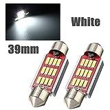 xinban 2X 800Lumen 4014smd * 12LEDs illuminazione interni/segnalazione luci della targa di immatricolazione soffitte lampada luce 39mm Xenon Bianco 6000K