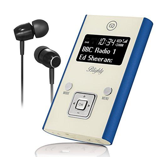 Digital- und FM-Pocket-Radio, Kopfhörer und USB-Aufladekabel inbegriffen Blau ()