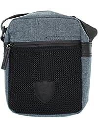 Redskins – Caja bandolera Pochette gris y negro Clayton formato estándar