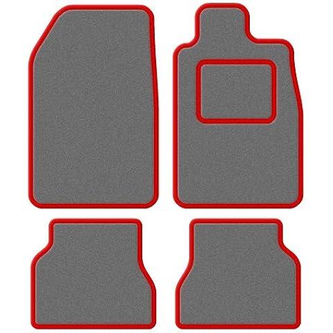 Mazda Bongo freetop 1995–2005Custom Fit taliored Prestige–Set di tappetini auto standard con finiture rosso, grigio