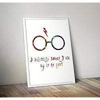 Harry Potter inspiriert Aquarell Print - Dobby - Hogwarts - Zitat - Alternative TV / Movie Prints in verschiedenen Größen (Rahmen nicht im Lieferumfang enthalten)