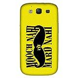 Bhishoom Designer Printed Back Case Cover for Samsung Galaxy S3 I9300 :: Samsung I9305 Galaxy S III :: Samsung Galaxy S III Lte (Moustache :: Beard :: Macho :: Mard :: Him)