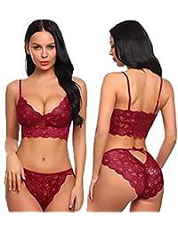 NAUGHTY WISH Hot & Sexy Women Hot Honeymoon Babydoll Lingerie Maroon (Free Size)