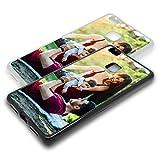 Personalisierte Premium Foto-Handyhülle für Huawei-Serie selbst gestalten mit Foto bedrucken, Hülle:TPU-Silikon / Schwarz, Handymodell:Huawei P9 Lite