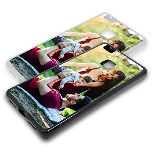 Personalisierte Premium Foto-Handyhülle für Huawei-Serie selbst gestalten mit Foto bedrucken, Hülle:Slim-Silikon / Transparent, Handymodell:Huawei P9 Lite