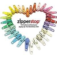 zipperstop all' ingrosso–Cerniera Kit di riparazione soluzione # 3Coil YKK® Slider uso in cucire o gioielli–Scelta di pezzi, laminati, o Mix 30pc Brights