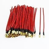 DealMux 100 Stück Red 0.75mm 2 Drahtspule Kabel 13cm Länge für Auto-Lautsprecher