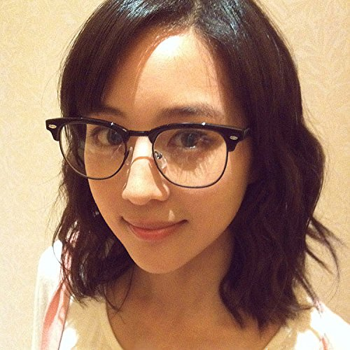 Sonnenbrillen Frame Flache Brille Mit Linsen Männlichen Damen Vintage-lopard Druck Myopia-brillen Rahmen Scrub Black (Beuteltuch)
