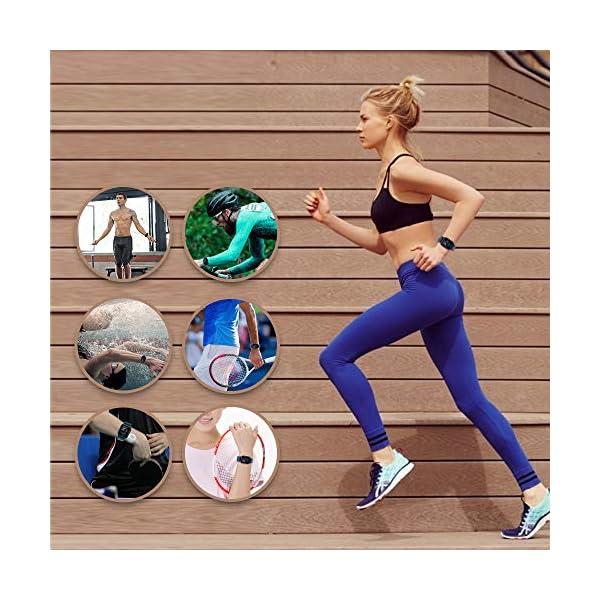 Ayete Smartwatch Fitness Tracker con frecuencia cardíaca Monitoreo de la presión Arterial Salud Deporte Reloj… 6
