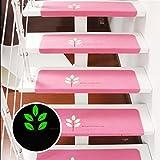 Hunpta Schritt Basic Skidproof Gummi Backing Skid-Resistant Teppich Treppen Greifer 5 Stk (Rosa)