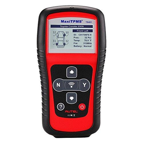 Autel TS401 TPMS Reifendruck-Kontrollsystem RDKS-Sensor-Anlernen-Tools, TPMS Sensoren aktivieren & anlernen & Programmieren für MX433 Sensoren, Sensoren Data in Echtzeit Bericht anzeigen