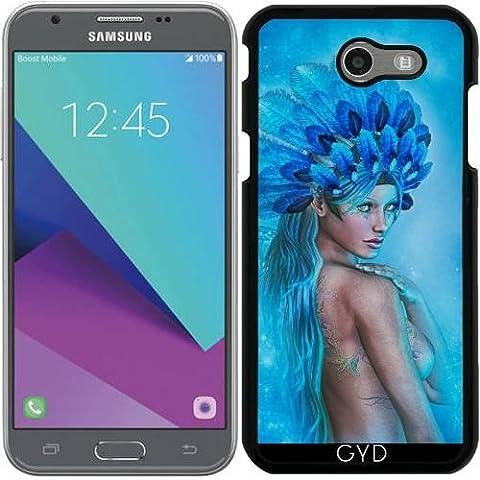 Hülle für Samsung Galaxy J3 2017 (SM-J327) - Zeichnung Der Schönen Frau Blu by Illu-Pic.-A.T.Art