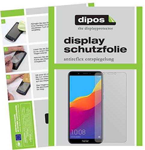 dipos I 2X Schutzfolie matt passend für Huawei Honor 7C Folie Bildschirmschutzfolie