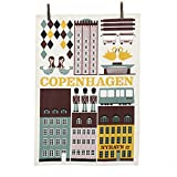 Ferm Living - Geschirrtuch, Trockentuch, Küchentuch - Muster: Copenhagen - 100% Bio-Baumwolle