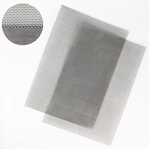 Fine Mesh 210 x 300mm Stainless Steel Woven Mesh A4 - Pack of 5