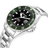 Gigandet Automatik Herren-Armbanduhr Sea Ground Taucheruhr Uhr Datum Analog Edelstahlarmband Schwarz Grün G2-005 - 2