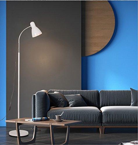 FGLDD Lampadaire blanc oeil LED chambre chevet salon étude lampe bureau à la maison pêche lampadaire taille: 25 * 155 cm