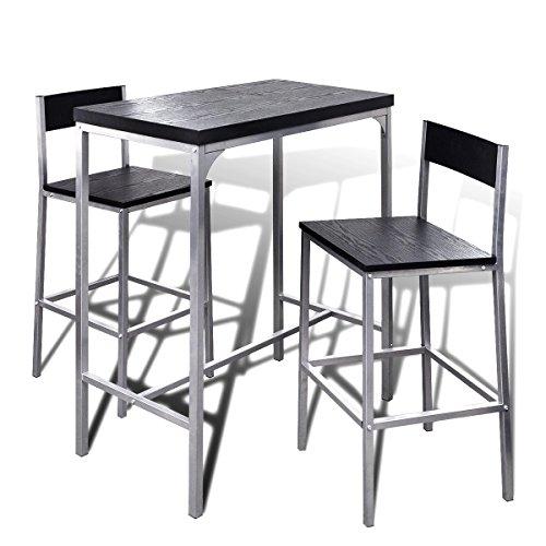 Tavolino Alto Da Bar Con Sgabelli.Vidaxl Set Da Bar Alto Contatore Colazione Tavolo E Sgabelli