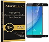 Samsung Galaxy C7 Pro Tempered Glass 2.5d Curved Edge Black Colour Multi-Layered Screen Protector For Samsung Galaxy C7/C7 Pro by Marshland®
