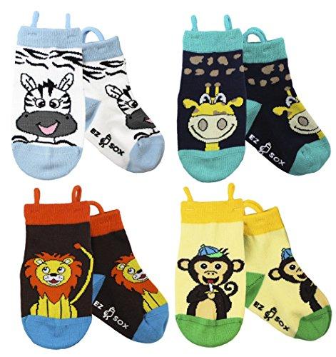 Kinder Tier Socken mit nahtlosen Zehen (5-9 Jahre, Monkey/Lion/Zebra/Giraffe) (Kinder-socken Giraffe)