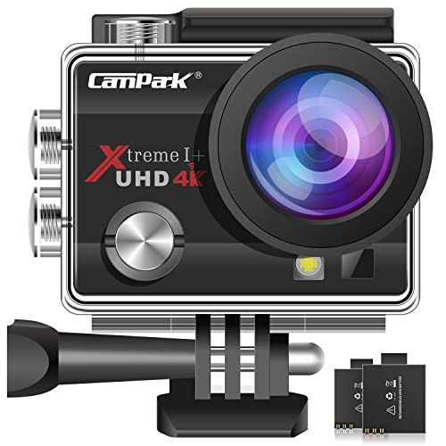 Campark ACT74 Action Cam 4K 16MP Wi-Fi Impermeabile 30M con 2 Batterie Custodia Impermeabile e Kit di Accessori