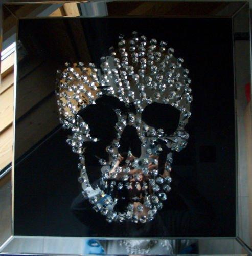 Unbekannt Diamond Skull Espejo Calavera Calavera Espejo 60X...