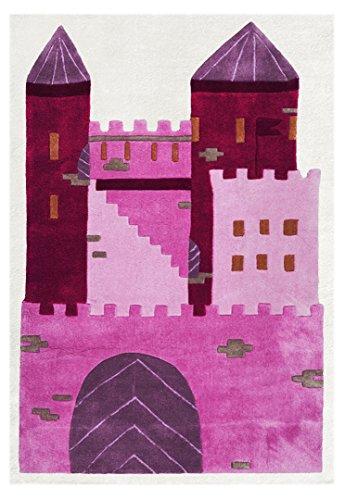 Kinderteppich Happy Rugs SCHLOSS PRINZESSIN pink 120 x 180cm
