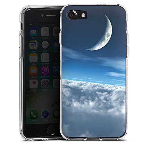 Apple iPhone X Silikon Hülle Case Schutzhülle Himmel Mond Wolken Silikon Case transparent