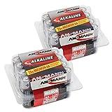ANSMANN Alkaline Batterie Mignon AA / LR06 1.5V / Longlife Alkalibatterie Sparpaket in Einer Praktischen Vorratsbox / 40 Stück