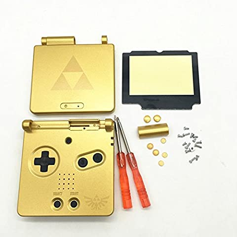 Haodasi Replacement Housing Shell Case Cover Faceplate Caja Cubierta Carcasa+Plastic Screen Lens+Screwdrivers for Nintendo Gameboy Advance SP GBA SP